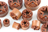 Rock Star Carved Wood Tunnels (Pair) - PA66
