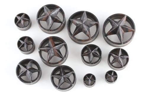 Starfish Wooden Plugs (Pair) - PA69
