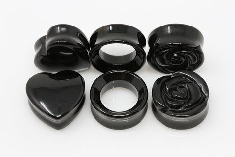 Black Heart Plug Bundle - 3 Pairs - BND13