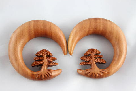 Bonsai carved wood stretching hangers