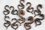 Wood Heart Plug Hangers (Pair) - D036