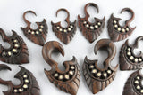 Wood Hanging Plugs for Stretched Ears (Pair) - D038