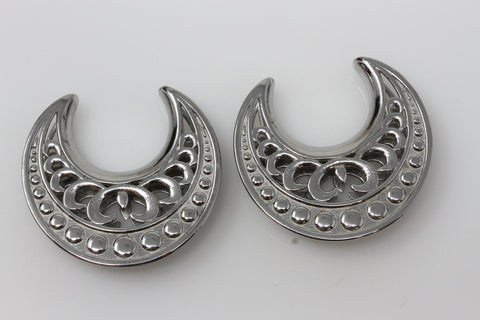 Loki Steel Saddles for Stretched Ears (Pair) - PSS51