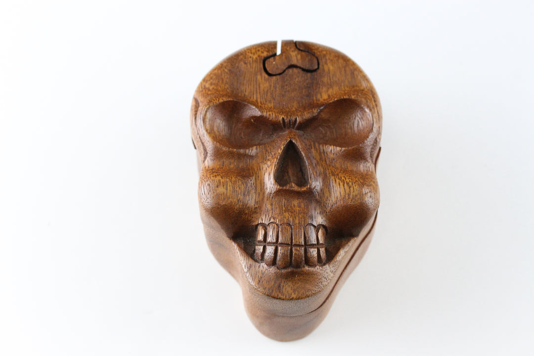 Skull Plug Gift Puzzle Box - Wooden Puzzle Box (Plugs not included)