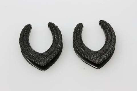 Stargate Black Steel Saddles (Pair) - PSS45