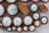 Dolphin Plugs - Wood Dolphin Stretch Plugs (Pair) - PA20