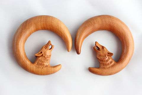 Wolf Hanger Hand Carved Wood