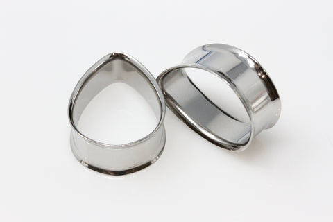 Stainless Steel Teardrop Tunnels (Pair) - PSS35