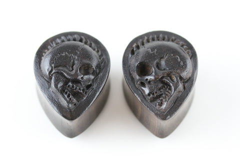 Wood Reaper TearDrop Plugs for Stretched Ears (Pair) - PA79