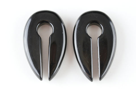 Obsidian Ear Weights (Pair) - H013
