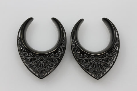 Ventress Black Steel Saddles (Pair) - PSS54