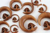 Bonsai carved gauges