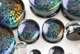 Cosmic Glass Plugs for stretched ears -  Double Flare (Pair) - PH26