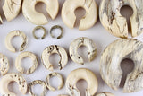 Tamarind Wood Carved Ear Hoops (Pair) - J002