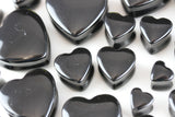 Obsidian Heart Shaped Plugs - Obsidian heart plugs (Pair) - PH28
