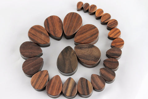Wood TearDrop Plugs