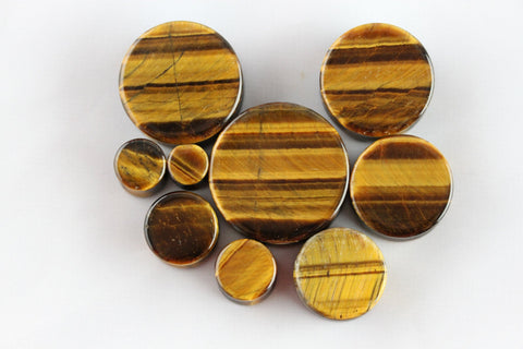 Tiger Eye Plugs (Pair) - PH29