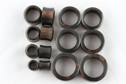 Wood Tunnel Plugs - Areng Wood (Pair) - PA24
