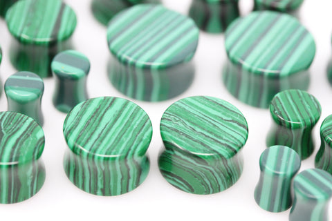 Faux Malachite Plugs