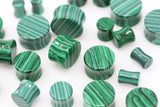 Faux Malachite Plugs (Pair) - PB74