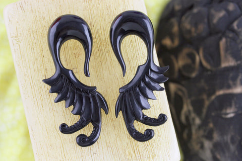 Black Horn Stretched Ear Expander