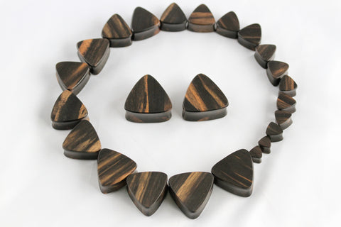 Wood Triangle Plug for Stretched Ears (Pair) - PA36
