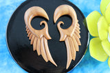 Wood Wings Stretched Ear plugs