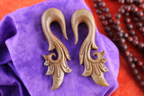 Wood Plug Stretching Hangers - Carved Ear Stretch Plug (Pair) - A003