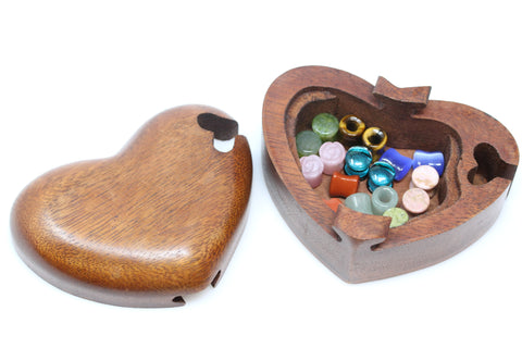 Heart secret hidden wooden box - (Plugs not included) SWQA0027