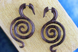 Wood Maze Stretching Plugs - Hand Carved (Pair) - D035