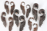 Wood Feather Ear Hangers