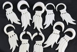 Four Feather Hanging Plugs (Pair) - C029