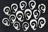 White Plugs for Gauged Ears - Stretch Plugs (Pair) - C056