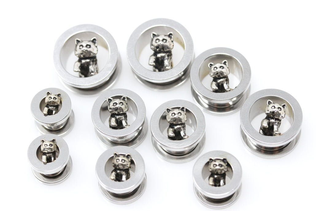 Kitty Stainless Steel Tunnels - Screw on Tunnel (Pair) - PSS04