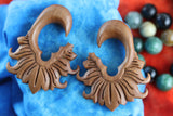 Wood Gauged Earring Stretchers - Hand Carved (Pair) - A024