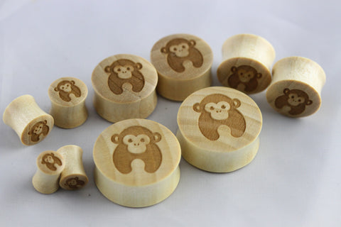 laser cut wood monkey gauges