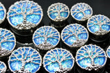 Aqua Tree of Life Stainless Steel Plugs - Single Flare (Pair) - PSS13