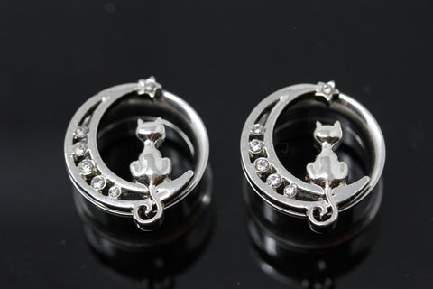 Stainless Steel Moon Kitty Tunnels - (Pair) - PSS15