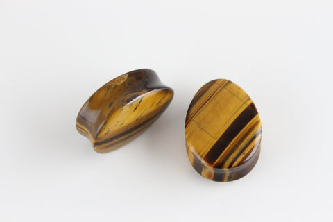Tiger Eye Teardrop Plugs