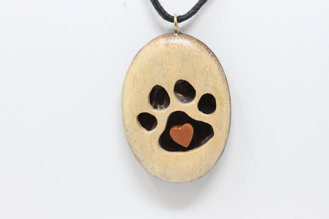 Hand Carved Pet Love Necklace - S063
