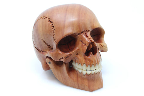"Hand Carved Wood Skull - 4"" - (Only 1 made)"