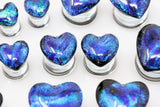 Glass Heart Plugs
