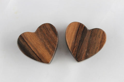 wood heart plugs