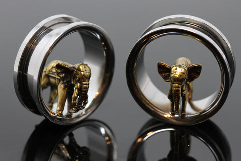 Elephant Stainless Steel Tunnels - Screw on Tunnel (Pair) - PSS33