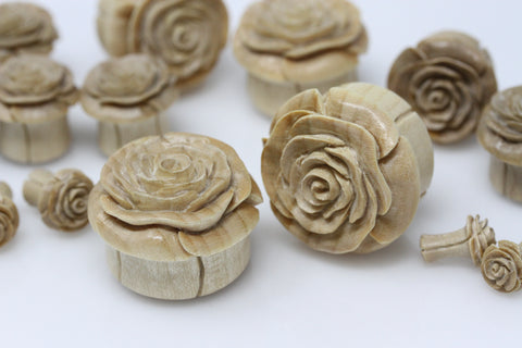 Desert Rose Wooden Plugs (Pair) - PA100