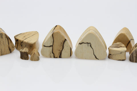 Triangle Tamarind Wood Plugs (Pair) - PA110