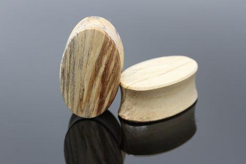 Oval Tamarind Wood Plugs (Pair) - PA104