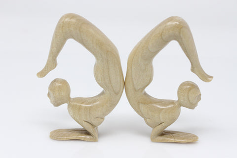 Yoga Scorpion Pose Wooden Hangers (Pair) - E012