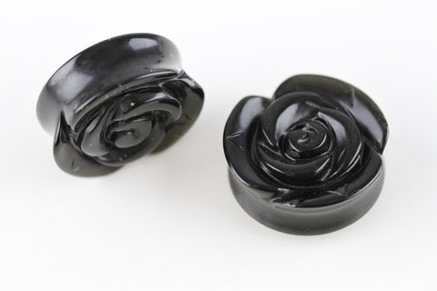 Black stone flower plugs