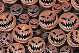 Evil Pumpkin Wooden Plugs - (Pair) - PA105
